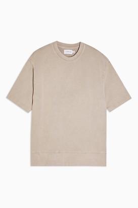 Topman Womens Beige Wash Sweatshirt - Beige