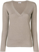 Brunello Cucinelli V-neck pullover - women - Silk/Polyamide/Cashmere/Metallized Polyester - L
