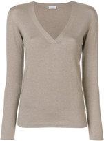 Brunello Cucinelli V-neck pullover - women - Silk/Polyamide/Cashmere/Metallized Polyester - M