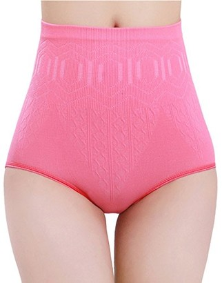 Amaone Women Control Knickers Butt Lifter Shaping Bodysuits Shapewear for Ladies Hi-Waist Panty Tummy Control Knickers Slimming Underwear Comfortable Body Shaper for Wedding (Hot Pink)