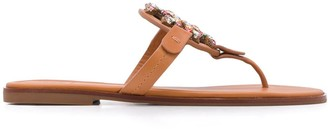 Tory Burch Miller crystal-logo sandals