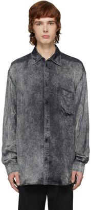 Balenciaga Black Satin Acid Wash Shirt