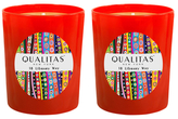 Qualitas Candles 18 Library Way Candles (6.5 OZ) (Set of 2)
