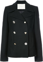 ADAM by Adam Lippes Peacoat with jewel buttons jacket