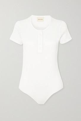 LOULOU STUDIO Hiva Ribbed Cotton Bodysuit