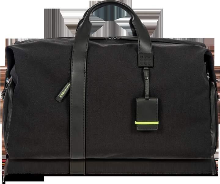 Bric's Black Nylon and Leather Weekender Holdall