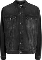 Topman Oversized Black Denim Jacket