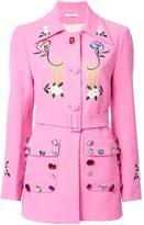 Vivetta embellished belted jacket