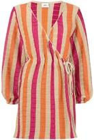 SUBOO knit wrap mini dress