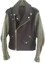 Acne Studios Navy Leather Jackets
