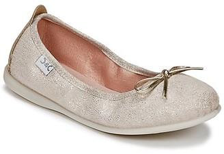 Citrouille et Compagnie INOBALI girls's Shoes (Pumps / Ballerinas) in Beige
