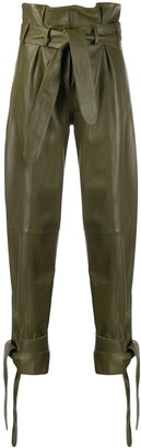 ATTICO High Waisted Knot Detail Pants