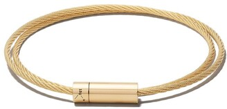 Le Gramme 18kt brushed yellow gold Le 15 Grammes Double Cable Bracelet