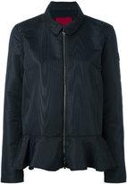 Moncler Gamme Rouge peplum hem jacket - women - Silk/Polyester - 0