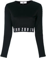 Versus cropped top - women - Cotton/Polyamide/Polyester/Spandex/Elastane - 40