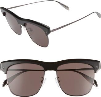 Alexander McQueen 55mm Brow Line Sunglasses