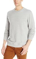 Naked & Famous Denim Men's Slim Crew In Tonal Stripe Double Knit Shirt