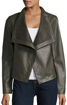 BB Dakota Faux Leather Flyaway Jacket