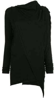 Y's draped neck blouse