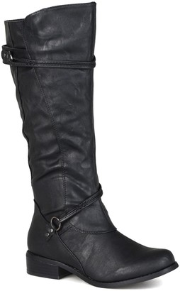Journee Collection Harley Buckle Tall Boot