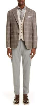 Eleventy Stretch Cotton Slim Fit Vest