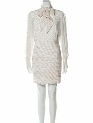 HANEY Silk Mini Dress White