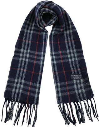 Burberry Blue Wool Scarves