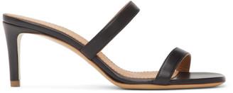 Mansur Gavriel Black Lambskin Fino Sandals