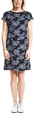 Cecil Women's B140637 Ballon Boat Neck Short Sleeve Dress - Multicolour - Small