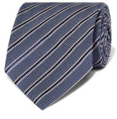 Tom Ford 8cm Striped Silk Tie - Light blue