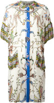 Tsumori Chisato multi-pattern shift dress - women - Cupro/Polyester - S