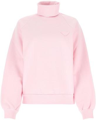 Prada Oversized Turtleneck Sweatshirt