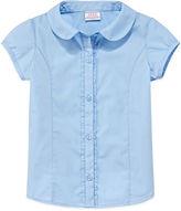 Izod Short-Sleeve Woven Top - Preschool Girls 4-6x