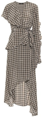 Rokh Houndstooth silk dress
