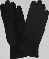 Isotoner Womens Lycra Stretch Gloves with Fleece & Suede Accents