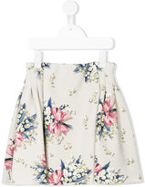 MonnaLisa floral bow print skirt - kids - Polyester/Spandex/Elastane - 4 yrs