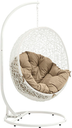 Modway Outdoor Modway Hide Outdoor Patio Wicker Rattan Swing Chair With Stand