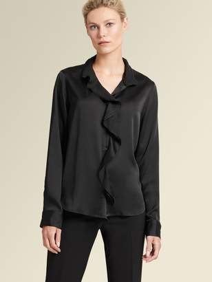 DKNY Ruffled Button-up Shirt