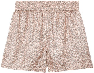 Burberry Monogram Silk Twill Shorts
