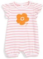 Nordstrom Infant Girl's Ruffle Sleeve Striped Romper