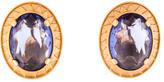 Saint Laurent Crystal Clip On Earrings