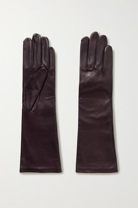 Agnelle Celia Leather Gloves - Merlot