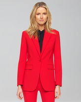 Michael Kors   Wool One-Button Blazer, Crimson