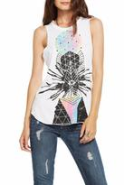 Chaser Brushed Painting Sleeveless Top