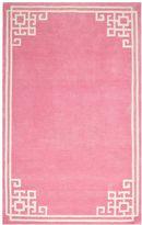 Chic Border Rug, 8x10, Light Pink