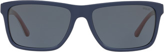 Ralph Lauren Striped Rectangular Sunglasses