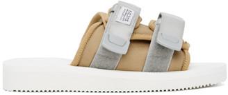 Suicoke SSENSE Exclusive Beige and White MOTO-Cab Sandals