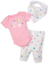 Absorba Newborn Girls) 3-Piece Tutti Fruity Bodysuit & Pants Set