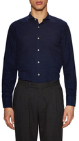 Luca Roda Dot Spread Collar Dress Shirt