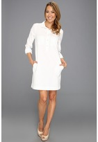 Calvin Klein Jeans L/S Shirt Dress (White) - Apparel